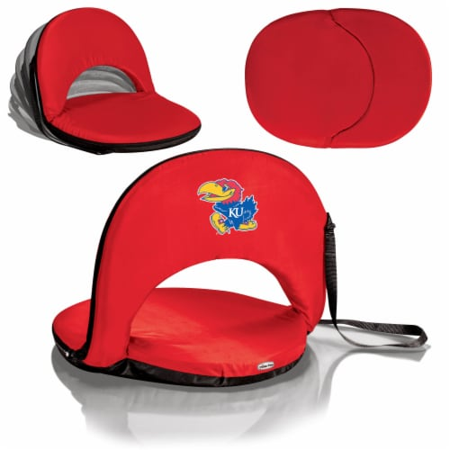 Kansas Jayhawks - Oniva Portable Reclining Seat Perspective: back