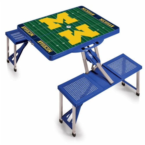 Michigan Wolverines Portable Picnic Table Perspective: back