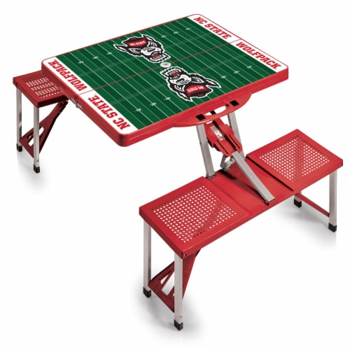 NC State Wolfpack - Picnic Table Portable Folding Table with Seats Perspective: back