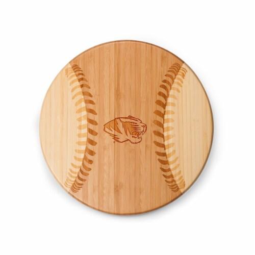 Missouri Tigers - Home Run! Baseball Cutting Board & Serving Tray Perspective: back