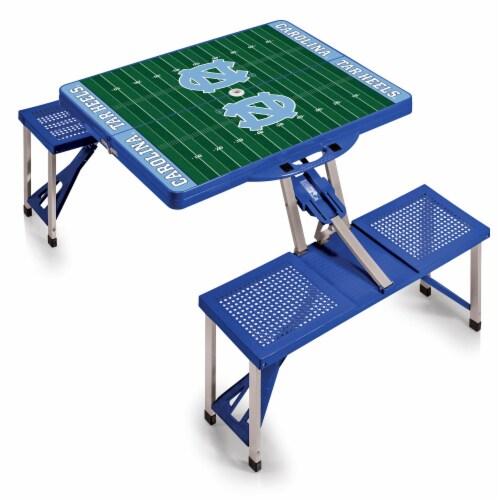North Carolina Tar Heels Portable Picnic Table Perspective: back