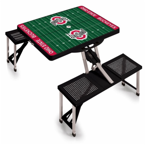 Ohio State Buckeyes Portable Picnic Table Perspective: back