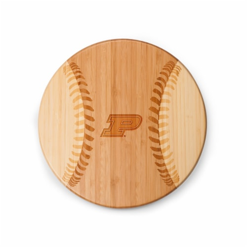 Purdue Boilermakers - Home Run! Baseball Cutting Board & Serving Tray Perspective: back