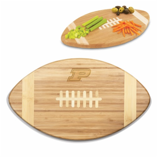 Purdue Boilermakers - Touchdown! Football Cutting Board & Serving Tray Perspective: back