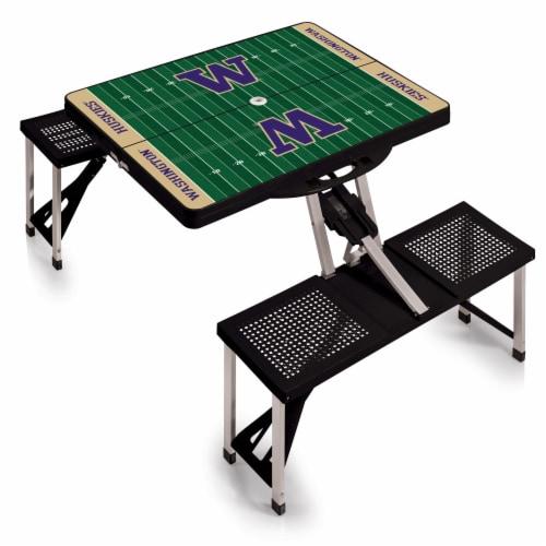 Washington Huskies Portable Picnic Table Perspective: back