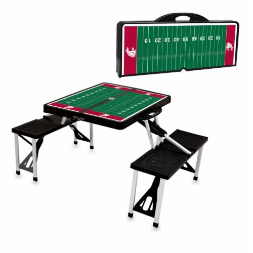 Washington State Cougars Portable Picnic Table Perspective: back