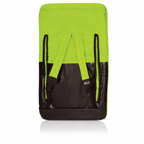 Ventura Portable Reclining Stadium Seat, Lime Green Perspective: back