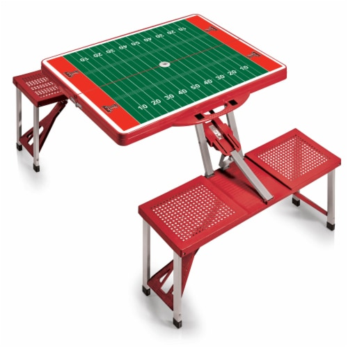 Texas Tech Red Raiders - Picnic Table Portable Folding Table with Seats Perspective: back