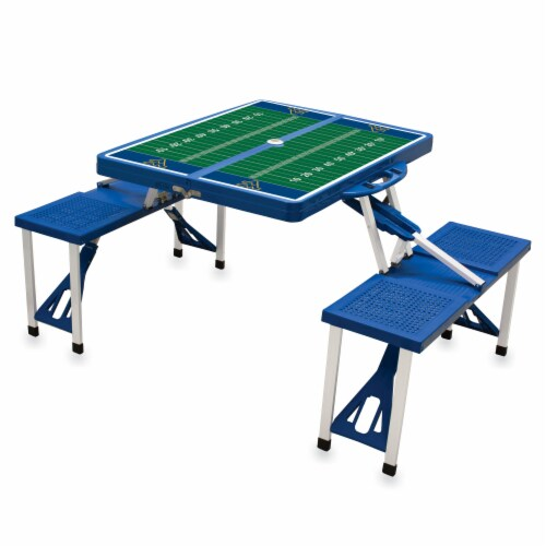 West Virginia Mountaineers - Picnic Table Folding Table with Seats Perspective: back