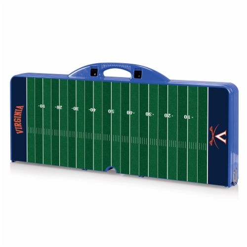 Virginia Cavaliers - Picnic Table Portable Folding Table with Seats Perspective: back
