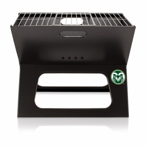 Colorado State Rams - X-Grill Portable Charcoal BBQ Grill Perspective: back