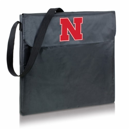 Nebraska Cornhuskers - X-Grill Portable Charcoal BBQ Grill Perspective: back