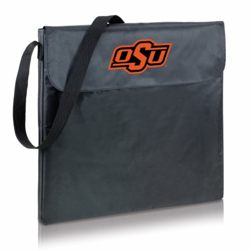 Oklahoma State Cowboys - X-Grill Portable Charcoal BBQ Grill Perspective: back