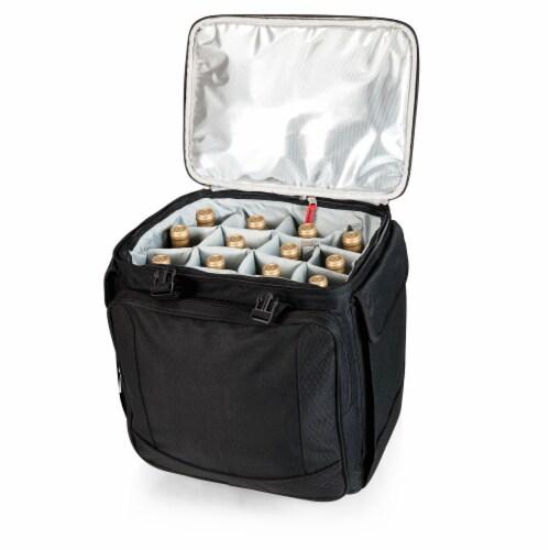 Bodega Rolling Wine Cooler, Black Perspective: back