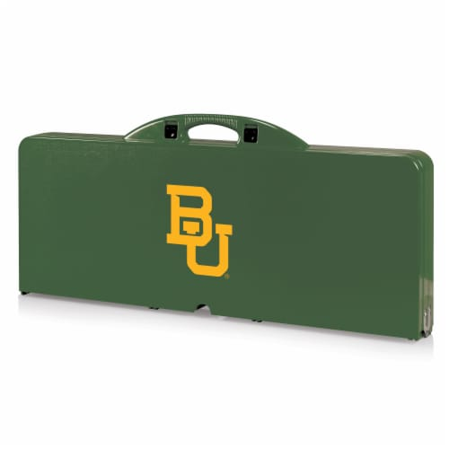 Baylor Bears - Picnic Table Portable Folding Table with Seats Perspective: back