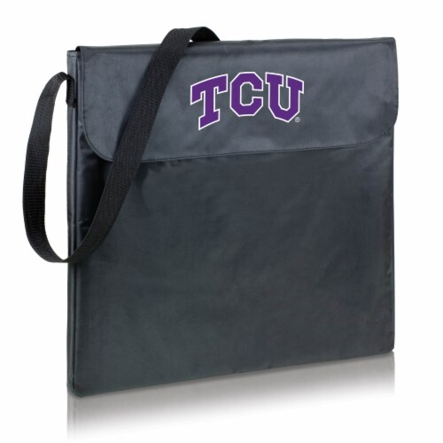 TCU Horned Frogs - X-Grill Portable Charcoal BBQ Grill Perspective: back