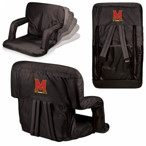 Maryland Terrapins - Ventura Portable Reclining Stadium Seat Perspective: back