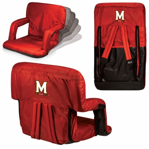 Maryland Terrapins - Ventura Portable Reclining Stadium Seat Perspective: back