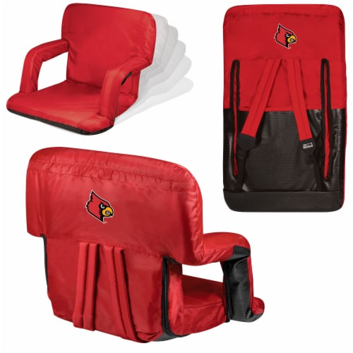 Louisville Cardinals - Ventura Portable Reclining Stadium Seat Perspective: back