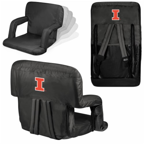 Illinois Fighting Illini - Ventura Portable Reclining Stadium Seat Perspective: back