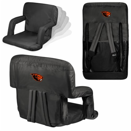 Oregon State Beavers Ventura Portable Reclining Stadium Seat - Black Perspective: back