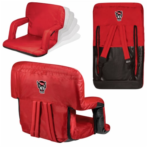 NC State Wolfpack Ventura Portable Reclining Stadium Seat Perspective: back