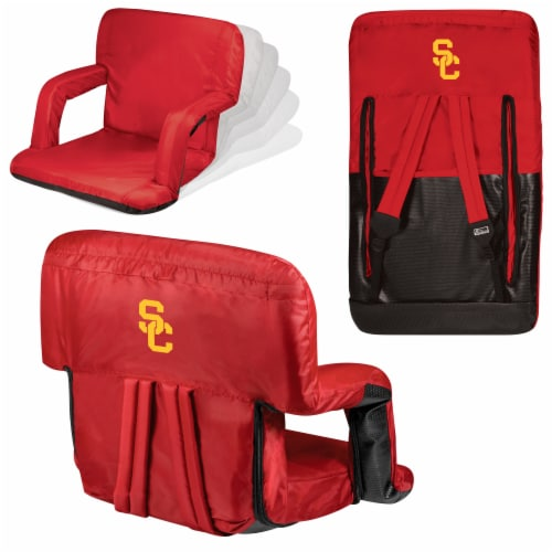 USC Trojans Ventura Portable Reclining Stadium Seat - Red Perspective: back