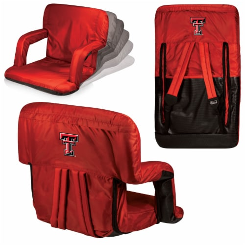 Texas Tech Red Raiders - Ventura Portable Reclining Stadium Seat Perspective: back