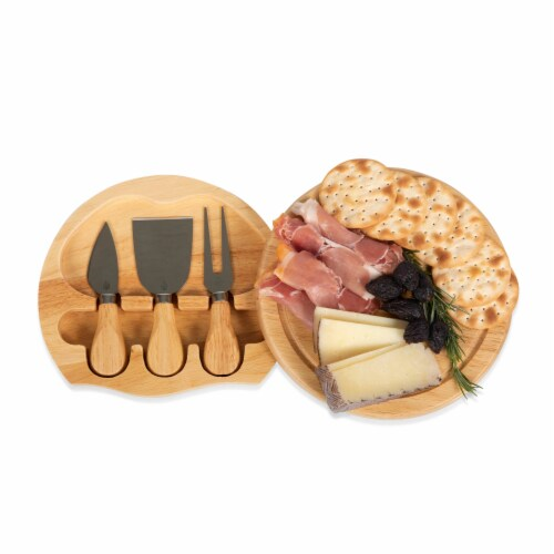 Las Vegas Raiders - Brie Cheese Cutting Board & Tools Set Perspective: back
