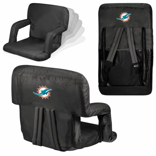 Miami Dolphins - Ventura Portable Reclining Stadium Seat Perspective: back
