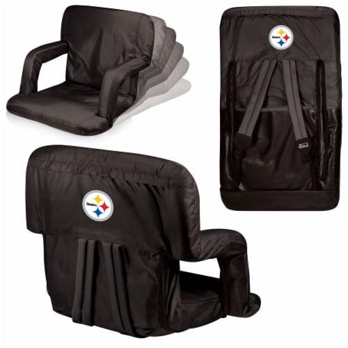 Pittsburgh Steelers Ventura Portable Reclining Stadium Seat - Black Perspective: back