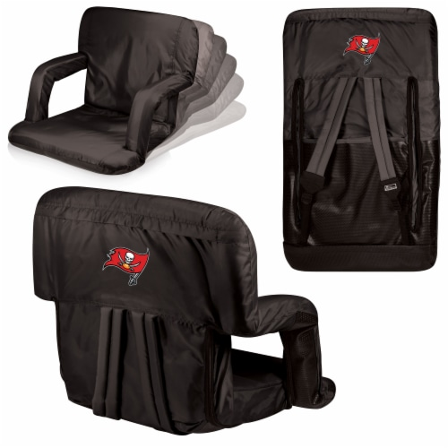 Tampa Bay Buccaneers - Ventura Portable Reclining Stadium Seat Perspective: back