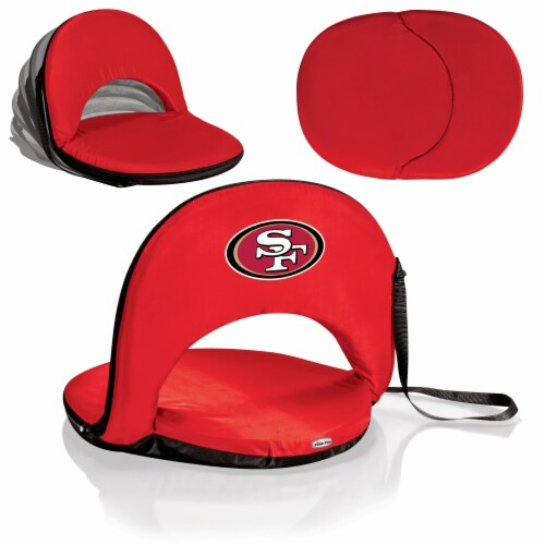 San Francisco 49ers - Oniva Portable Reclining Seat Perspective: back