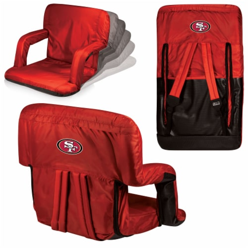 San Francisco 49ers - Ventura Portable Reclining Stadium Seat Perspective: back