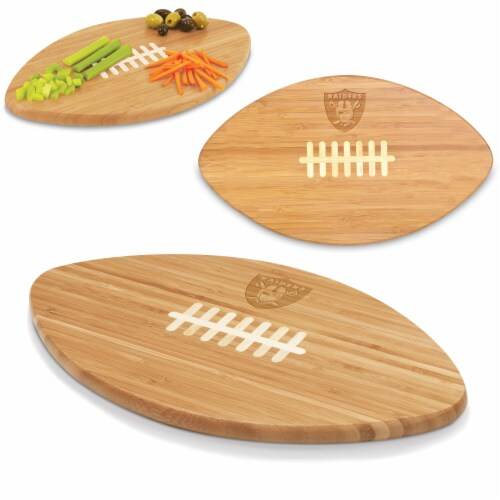 Oakland Raiders Touchdown! Football Cutting Board & Serving Tray Perspective: back