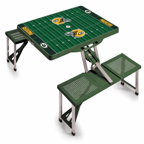 Green Bay Packers Portable Picnic Table Perspective: back