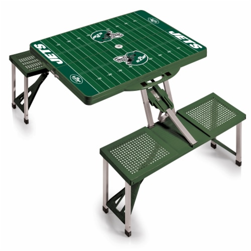 New York Jets - Picnic Table Portable Folding Table with Seats Perspective: back