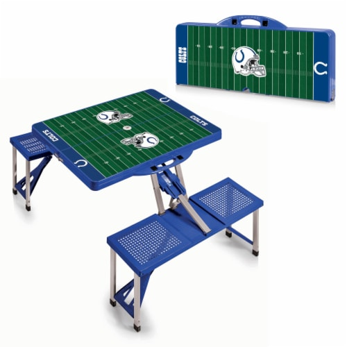Indianapolis Colts - Picnic Table Portable Folding Table with Seats Perspective: back