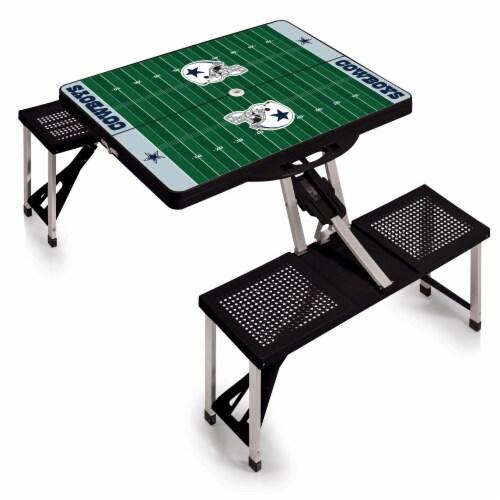 Dallas Cowboys Portable Picnic Table Perspective: back