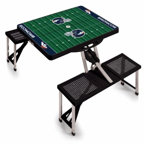 Denver Broncos Portable Picnic Table Perspective: back