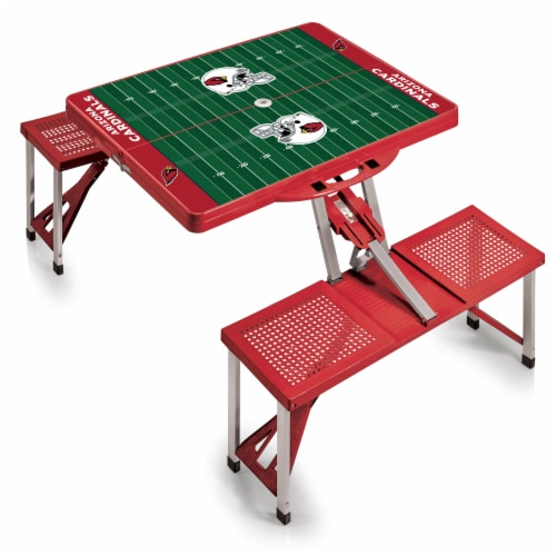 Arizona Cardinals - Picnic Table Portable Folding Table with Seats Perspective: back