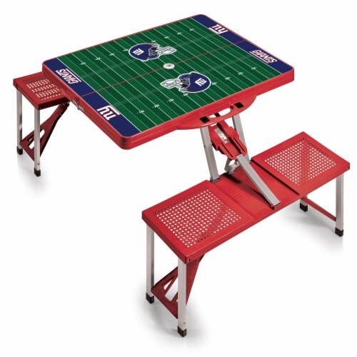 New York Giants Portable Picnic Table Perspective: back