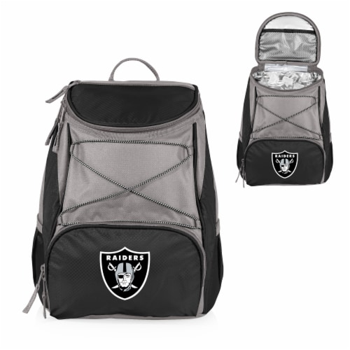 Oakland Raiders  PTX Cooler Backpack - Black Perspective: back