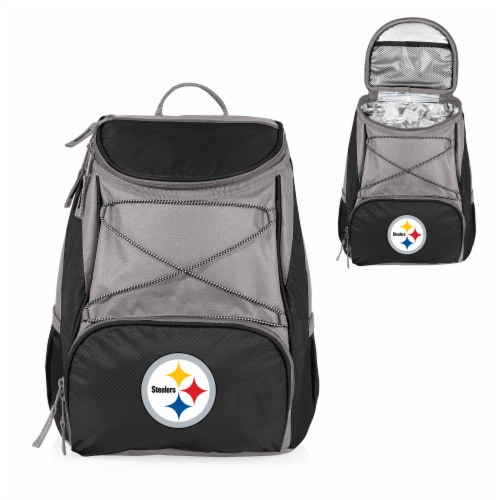 Pittsburgh Steelers PTX Cooler Backpack - Black Perspective: back