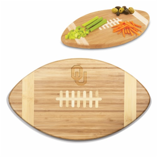 Oklahoma Sooners Touchdown! Football Cutting Board & Serving Tray Perspective: back