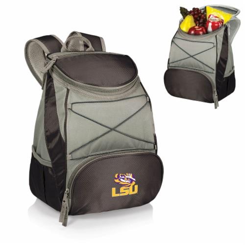 LSU Tigers PTX Cooler Backpack - Black Perspective: back