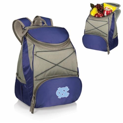 North Carolina Tar Heels PTX Cooler Backpack - Navy Perspective: back