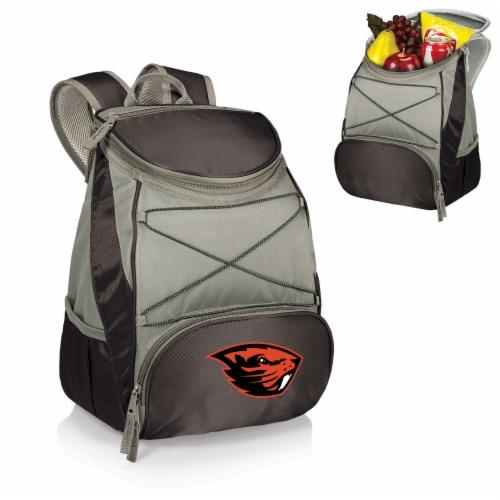 Oregon State Beavers PTX Cooler Backpack - Black Perspective: back