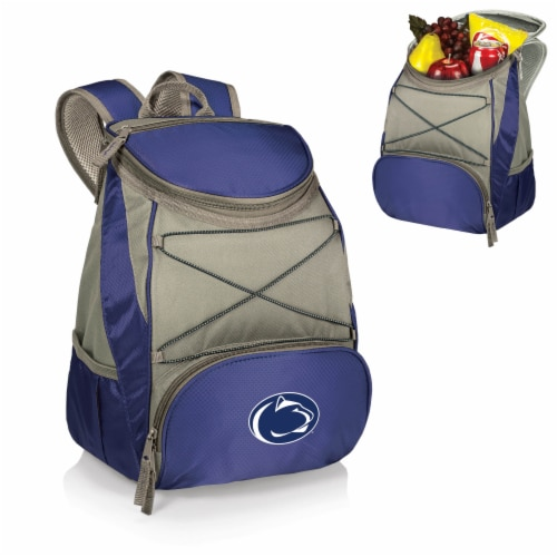 Penn State Nittany Lions PTX Cooler Backpack - Navy Perspective: back