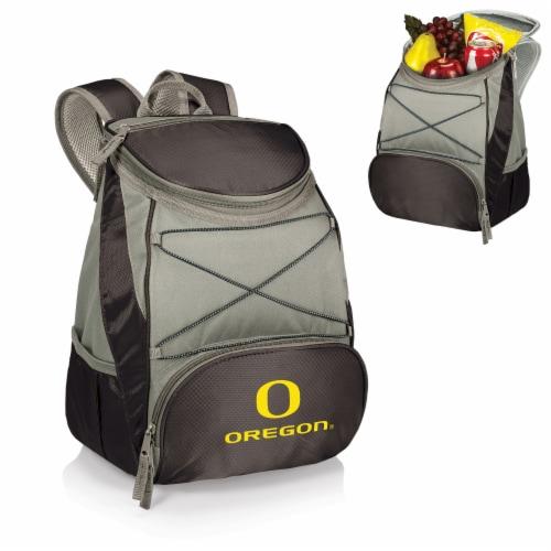 Oregon Ducks PTX Cooler Backpack - Black Perspective: back